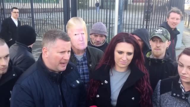the deputy leader of farright group britain first has been released on bail after appearing in court in belfast charged over comments about islam... - bail cricket stump stock videos & royalty-free footage