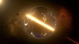 The destruction of the earth by a meteorite