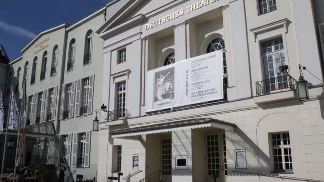 the deutsches theater in berlin ceases to operate on march 16 2020 in berlin germany everyday life in germany has become fundamentally altered as... - unterhaltungsveranstaltung stock-videos und b-roll-filmmaterial