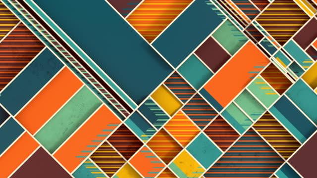 vídeos y material grabado en eventos de stock de el movimiento diagonal de formas rectangulares planas. diseño gráfico de movimiento. animación digital en bucle sin interrupciones. renderizado 3d. resolución hd - animación biomédica