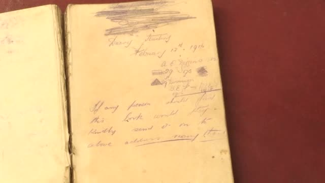 a battered diary written by a soldier during the battle of the somme in the first world war has been discovered in a midlands barn written in pencil... - diary stock videos & royalty-free footage