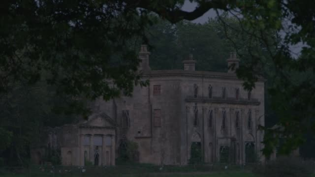 the dilapidated piercefield house, chepstow - wales stock videos & royalty-free footage