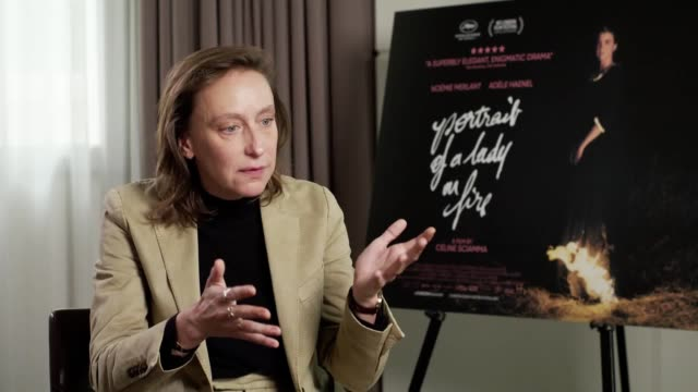 the director céline sciamma and leading actors adèle haenel and noémie merlant discuss bringing to life the new film, portrait of a lady on fire, a... - female friendship stock videos & royalty-free footage