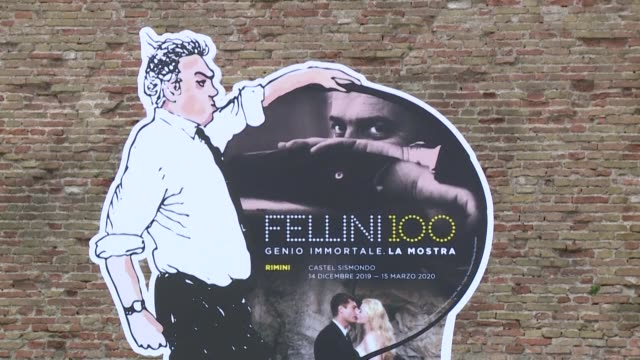 the director of la dolce vita federico fellini born 100 years ago in rimini italy is honoured with an exhibition - federico fellini stock videos & royalty-free footage
