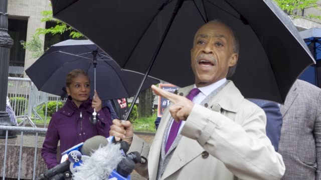 the disciplinary hearing begins for nypd officer daniel pantaleo on may 13 2019 in new york city at 1 police plaza nypd headquarters protesting the... - al sharpton stock videos & royalty-free footage
