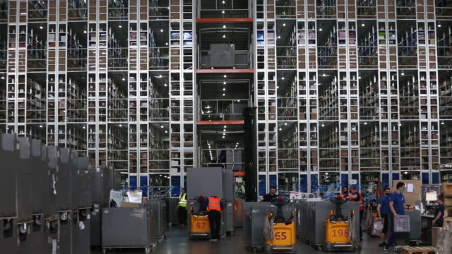 the distribution center and a delivery point operated by wildberries llc, in podolsk, russia on monday, june 15, 2020. - warehouse stock videos & royalty-free footage