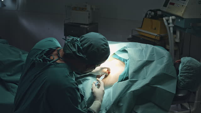 the doctor was injecting anesthesia before the operation - operating stock videos & royalty-free footage