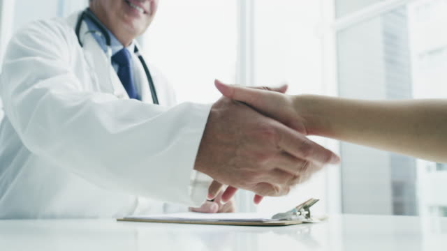 the doctor will see you now - handshake stock videos & royalty-free footage