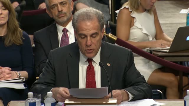 the doj inspector general michael horowitz tells the senate judiciary committee in a hearing on the doj and fbi actions in advance of the 2016... - michael horowitz stock videos & royalty-free footage