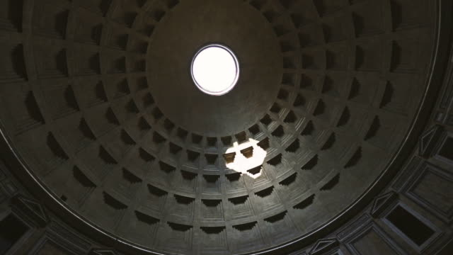 the dome and impluvium of the pantheon in rome - pantheon rome stock videos and b-roll footage