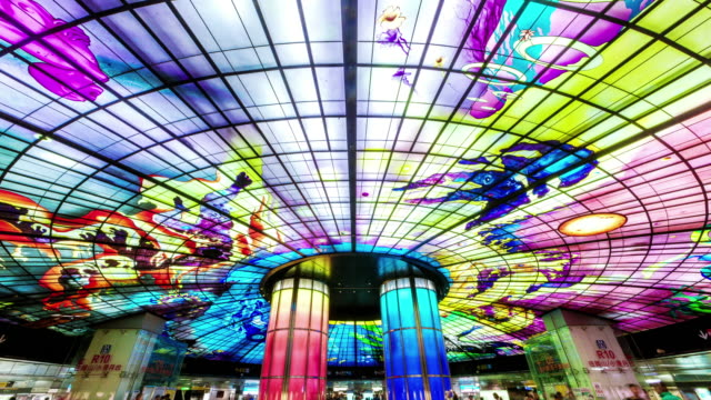 The Dome of Light at Formosa Boulevard Station in Kaohsiung City.