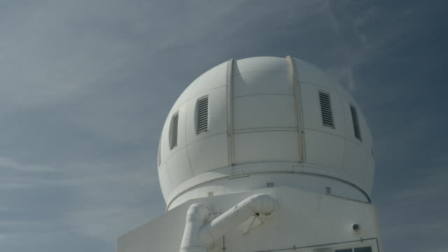 the dome of the big bear solar observatory slowly revolves. - observatory stock videos & royalty-free footage