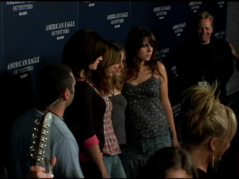 the donnas at the back to school tailgate party arrivals by american eagle outfitters at hollywood lot in hollywood, california on august 24, 2004. - american eagle outfitters stock videos & royalty-free footage