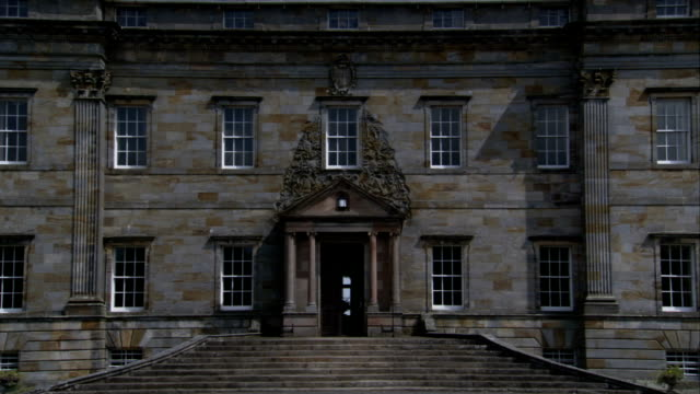 the door into kinross house stands ajar. available in hd. - ajar stock videos & royalty-free footage