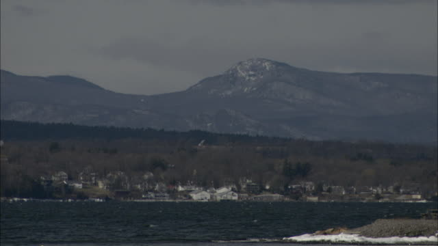 the dorset mountains border a small lake town in vermont. - vermont stock videos & royalty-free footage