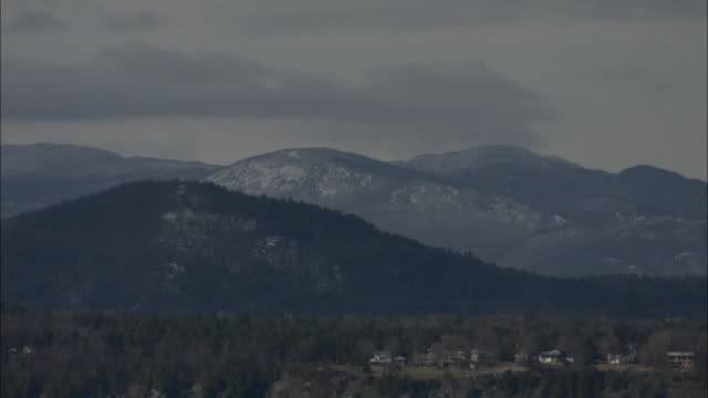 the dorset mountains border a small vermont town. - vermont stock videos & royalty-free footage