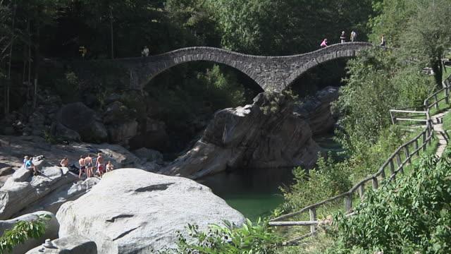 The Double-arched bridge 'Ponte dei salti' in Lavertezzo