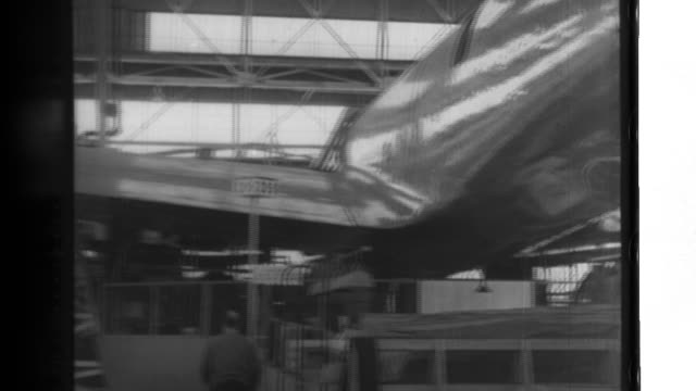 The Douglas Aircraft Company in Santa Monica assembles an XBType 19 longrange bomber