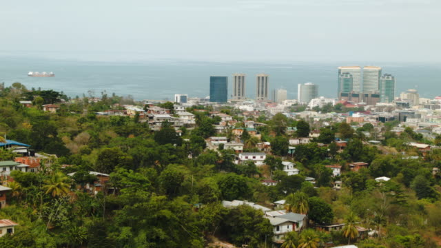 the downtown area of port of spain is seen as the country is consumed with reports that former fifa vice-president jack warner was corrupted as he... - trinidad trinidad and tobago stock videos & royalty-free footage
