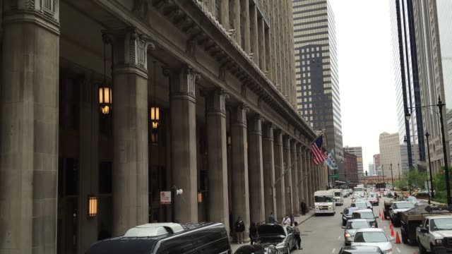 the downtown of chicago, illinois, usa - trolley bus stock videos & royalty-free footage