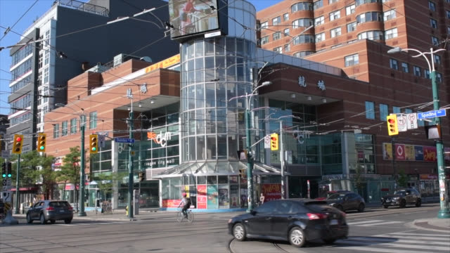 the dragon city mall in chinatown, toronto, canada - corner stock videos & royalty-free footage