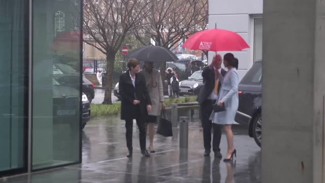 the duchess of cambridge arrives at king's college london to visit the maurice wohl clinical neuroscience institute at the institute of psychiatry,... - king's college cambridge stock videos & royalty-free footage