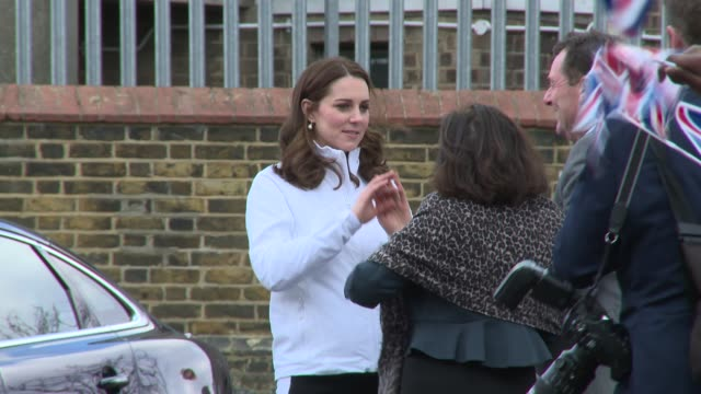 the duchess of cambridge at bond primary school on january 17 2018 in london england - kate middleton stock videos & royalty-free footage