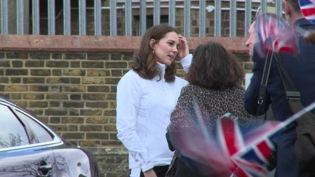 the duchess of cambridge at bond primary school on january 17 2018 in london england - david bond stock videos & royalty-free footage