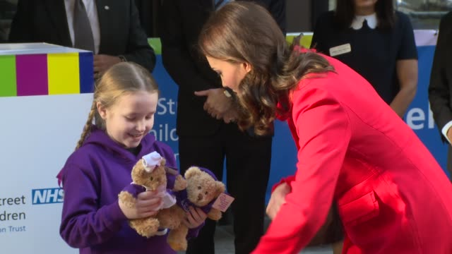 the duchess of cambridge at great ormond street hospital on january 17 2018 in london england - duchess of cambridge stock videos & royalty-free footage