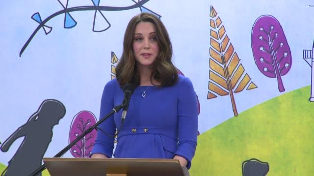 SPEECH The Duchess of Cambridge at Roe Green Junior School on January 23 2018 in London England