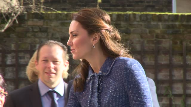 the duchess of cambridge at ronald mcdonald house evelina london on february 28, 2017 in london, england. - british royalty stock videos & royalty-free footage