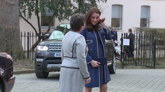 the duchess of cambridge at royal college of obstetricians and gynaecologists on february 27, 2018 in london, england. - pregnant stock videos & royalty-free footage
