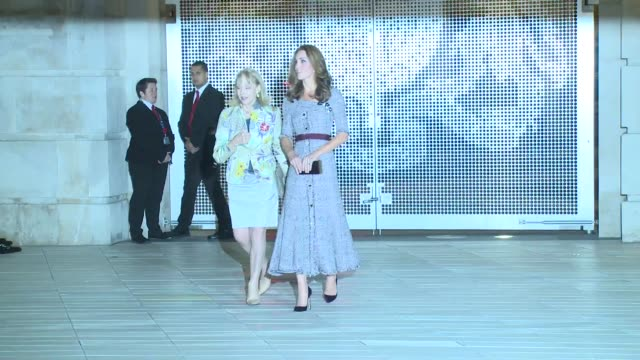 the duchess of cambridge at the va on october 10 2018 in london england - victoria and albert museum london stock videos & royalty-free footage