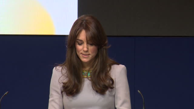 The Duchess Of Cambridge attends the Place2be headteachers conference at Merrill Lynch Shows interior shot the Duchess of Cambridge tlk about...