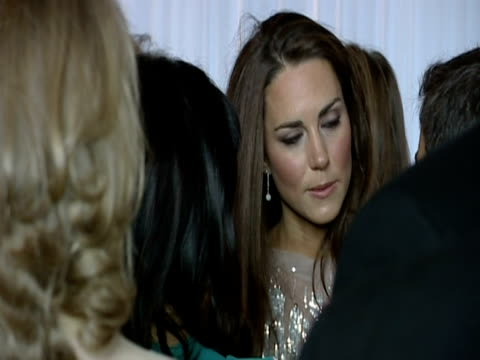 the duchess of cambridge chats to various guests at the ark 10th anniversary gala dinner - ark stock videos and b-roll footage