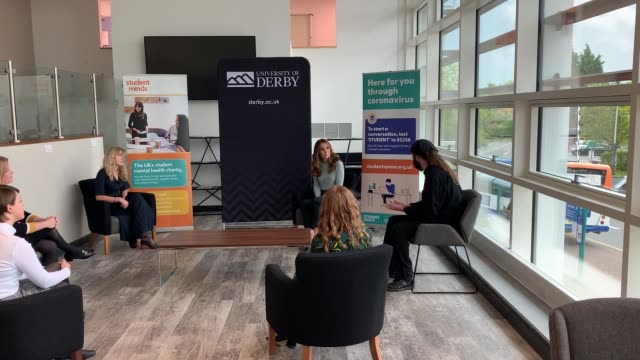 the duchess of cambridge during a visit to the university of derby to meet first-year students and hear how the coronavirus pandemic has affected the... - university student stock videos & royalty-free footage