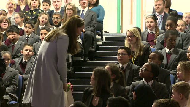 The Duchess of Cambridge formally opens the Kensington Aldridge Foundation the Kensington Leisure Centre Shows interior shots the Duchess of...