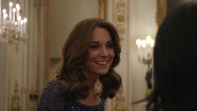 the duchess of cambridge hosts a gala dinner at buckingham palace to mark the 25th anniversary of the charity place2be of which she is a patron kate... - gala stock videos & royalty-free footage