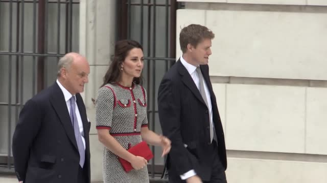 the duchess of cambridge is shown round the new va courtyard by tristram hunt before departing - courtyard stock videos and b-roll footage