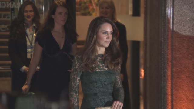 the duchess of cambridge leaving the 2017 portrait gala fundraiser at national portrait gallery on march 27, 2017 in london, england. - gala stock videos & royalty-free footage