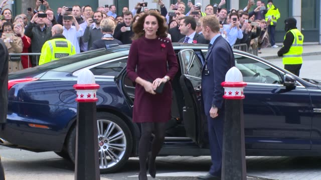 the duchess of cambridge on november 08 2017 in london england - duchess of cambridge stock videos & royalty-free footage