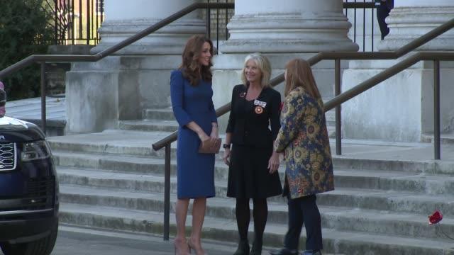 the duchess of cambridge on october 31 2018 in london england - herzogin stock-videos und b-roll-filmmaterial