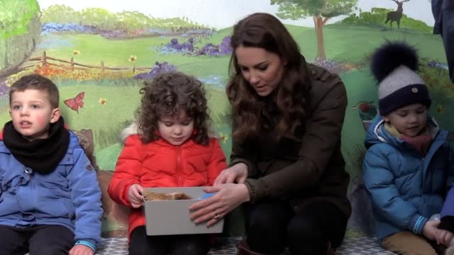 the duchess of cambridge visits the ark open farm in newtownards as part of her tour of the uk after launching a national survey on early years. it... - childhood stock videos & royalty-free footage