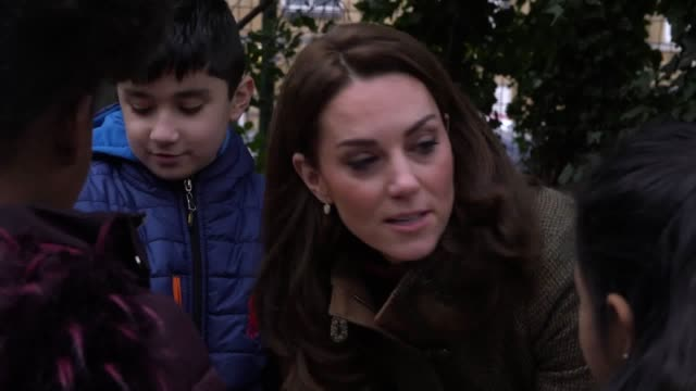 The Duchess of Cambridge visits the King Henry's Walk Garden in Islington London to learn about a project bringing people together through a shared...