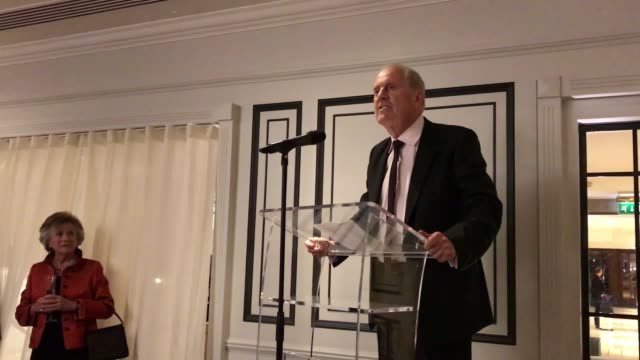 the duchess of cornwall attends the oscar wilde society reception, where she meets gyles brandreth and toasts nicholas parsons birthday. - nicholas parsons stock videos & royalty-free footage