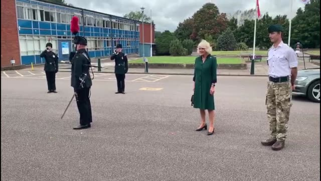 the duchess of cornwall carries out her first visit to the 1st battalion, the rifles, since her appointment as colonel-in-chief. - infantry stock videos & royalty-free footage