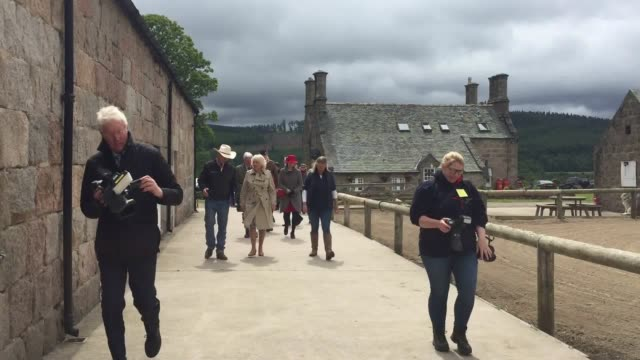 the duchess of cornwall has indulged her love of horses with a visit to a charity that helps rehabilitate veterans through their work with the... - aberdeenshire stock videos & royalty-free footage