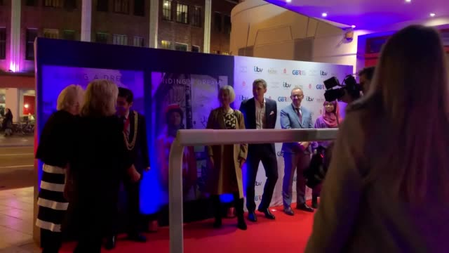 the duchess of cornwall has joined the first british muslim woman to win a horse race in the uk on the red carpet for the launch of a film... - documentary film stock videos & royalty-free footage