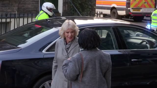 The Duchess of Cornwall joins the Met's Commissioner Cressida Dick at the force's service base to learn about TecSOS a technological innovation used...