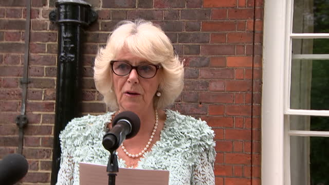 the duchess of cornwall urged society to challenge the 'corrosive' silence that surrounds domestic abuse today she addressed domestic abuse survivors... - domestic violence stock videos & royalty-free footage